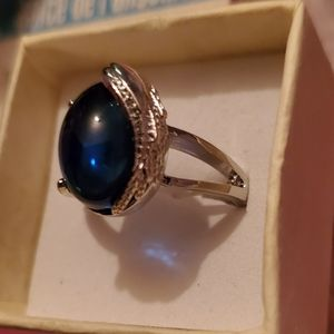 Sterling Silver and Blue Crystal